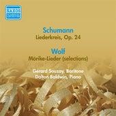 Schumann, R.: Liederkreis / Wolf, H.: Morike Lieder (Excerpts) (Souzay) (1956) by Dalton Baldwin