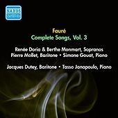 Faure, G.: Songs (Complete), Vol. 3 - Opp. 51, 57, 58, 61 (Doria, Monmart, Dutey, Mollet) (1955) by Various Artists
