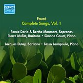 Faure, G.: Songs (Complete), Vol. 1 - Opp. 1-8 (Doria, Monmart, Dutey, Mollet) (1955) by Various Artists
