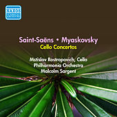 Saint-Saens, C.: Cello Concerto No. 1 / Myaskovsky, N.: Cello Concerto (Rostropovich) (1956) by Mstislav Rostropovich