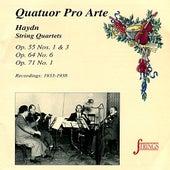 Haydn: Quartets Nos. 45, 47, 52, 54 by Quatuor Pro Arte