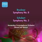 Bruckner, A.: Symphony No. 8 / Schubert, F.: Symphony No. 3 (Amsterdam Concertgebouw, Beinum) (1955) by Eduard Van Beinum