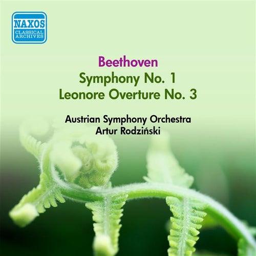 Beethoven, L. Van: Symphony No. 1 / Leonore Overture No. 3 (Austrian Symphony, Rodzinski) (1952) by Artur Rodzinski