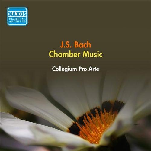 Bach, J.S.: Flute Sonatas, Bwv 1034, 1038 / Violin Sonata, Bwv 1021 / Trio Sonata, Bwv 1036 (Collegium Pro Arte) (1953) by Collegium Pro Arte