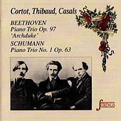 Beethoven & Schumann: Piano Trios by Alfred Cortot