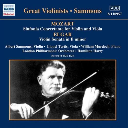 Mozart: Sinfonia Concertante / Elgar: Violin Sonata (Sammons) (1926-1935) by Albert Sammons