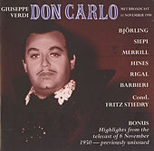 Verdi: Don Carlo by Jussi Bjorling