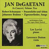 Jan DeGaetani in Concert, Vol. 2 by Jan DeGaetani