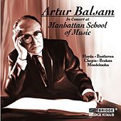 Artur Balsam in Concert at the Manhattan School of Music by Artur Balsam