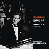 Brahms: Symphony No. 2 in D major, op. 73; Symphony No. 3 in F major, op. 90 by Leonard Bernstein