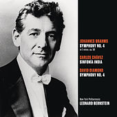 Brahms: Symphony No. 4 in E minor, op. 98; Chávez: Sinfonía India (Symphony No. 2); Diamond: Symphony No. 4 by Leonard Bernstein
