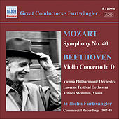 Mozart: Symphony No. 40 / Beethoven: Violin Concerto by Various Artists