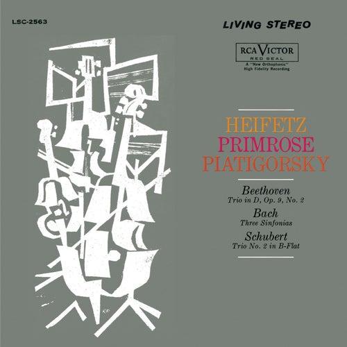 Beethoven: Trio, Op. 9, No. 2, Bach: Sinfonia No. 4, 9, 3, Schubert: Trio No. 2 by Jascha Heifetz