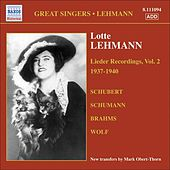 Lehmann, Lotte: Lieder Recordings, Vol. 2 (1937-1940) by Lotte Lehmann