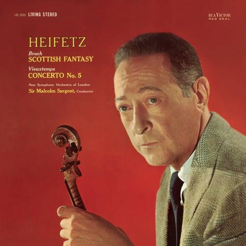 Vieuxtemps: Violin Concerto No. 5 in A Minor, Op. 37, Bruch: Scottish Fantasy, Op. 46 by Jascha Heifetz