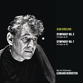 Sibelius: Symphony No. 2 in D major, op. 43; Symphony No. 7 in C Major, Op. 105 by Leonard Bernstein