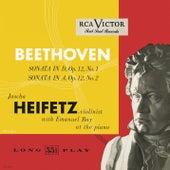 Beethoven: Sonata in D, Op. 12, No. 1; Sonata in A, Op. 12, No. 2 by Jascha Heifetz