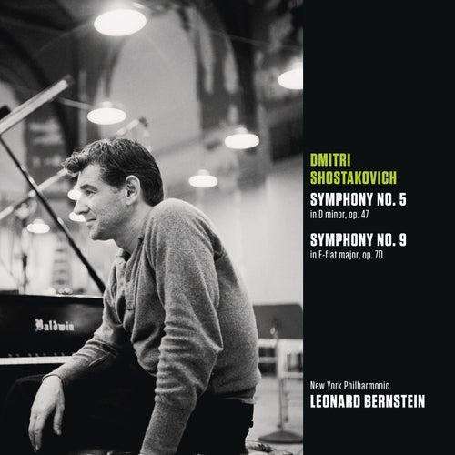 Shostakovich: Symphony No. 5 in D minor, op. 47; Symphony No. 9 in E-flat major, op. 70 by Leonard Bernstein