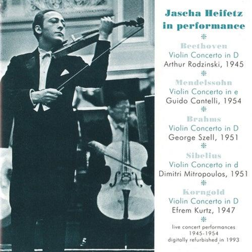 Jascha Heifetz in Performance (1945-1954) by Jascha Heifetz