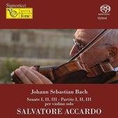Johann Sebastian Bach : Sonate No. 1-3 - Partite No. 1-3 per violino solo by Salvatore Accardo