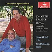 Brahms: The Three Sonatas for violin and piano (arr. cello and piano) by Jonathan Zak