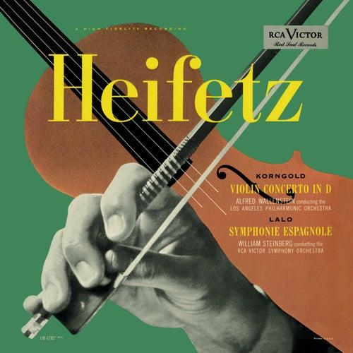 Korngold: Violin Concerto, Op. 35, in D, Lalo: Symphonie espagnole, Op. 21 by Jascha Heifetz