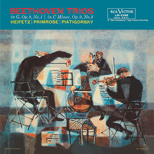Beethoven: Trio, Op. 9, No. 1, in G, Trio, Op. 9, No. 3, in C Minor by Jascha Heifetz
