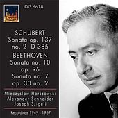 Schubert: Violin Sonata (Sonatina) in A minor, Op. 137, No. 2 - Beethoven: Violin Sonatas Nos. 7 and 10 by Various Artists