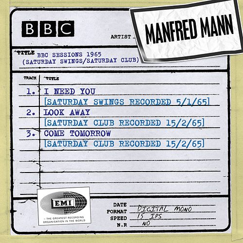 BBC Sessions (Saturday Swings/Saturday Club Recorded 1965) by Manfred Mann