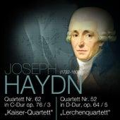 """Haydn: Quartett Nr. 62 in C-Dur op. 76/3 """"Kaiser-Quartett"""" & Quartett Nr. 52 in D-Dur, op. 64/5 """"Lerchenquartett"""" by Das Große Klassik Orchester"""
