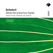 Schubert : Works for piano four hands by Anne Queffélec