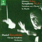 Brahms : Symphony No.3 & 'Haydn' Variations by Daniel Barenboim