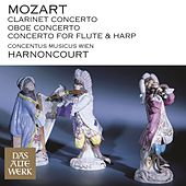 Mozart : Clarinet Concerto, Oboe Concerto & Concerto for Flute and Harp by Nikolaus Harnoncourt