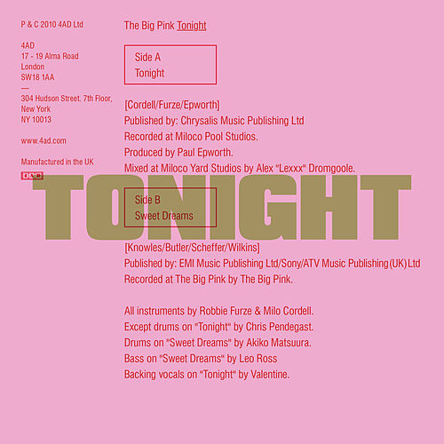 Tonight von The Big Pink