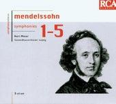 Mendelssohn: The 5 Symphonies von Kurt Masur