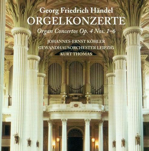 Georg Friedrich Händel: Organ Concertos Nos. 1-6 (Kohler, Kastner, Leipzig Gewandhaus Orchestra, Thomas) by Leipzig Gewandhaus Orchestra, Hannes Kastner, Johannes-Ernst Köhler, Kurt Thomas