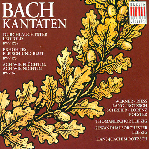 Johann Sebastian Bach: Cantatas - BWV 26, 173, 173a (Rotzsch) by Hans-Joachim Rotzsch