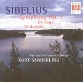 Jean Sibelius: Symphony No. 1 / En saga / Finlandia (Berlin Symphony, K. Sanderling) by Various Artists