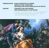 Felix Mendelssohn Bartholdy: Piano Concerto in A minor / Variations, Op. 83a /Wolfgang Amadeus Mozart.: Concerto for 2 Pianos, K. 365 (Stockigt, Lejsek, Lejskova) by Various Artists