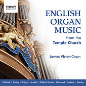 English Organ Music from the Temple Church by James Vivian