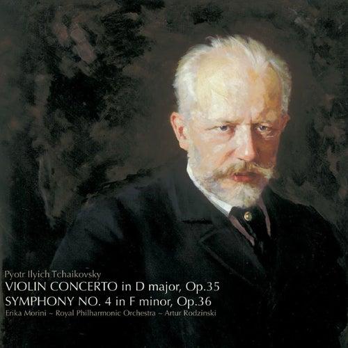 Tchaikovsky: Violin Concerto in D, Symphony No. 4 by Erika Morini