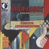 Villa-Lobos, H.: String Quartets, Vol. 6 - Nos. 4, 9, 11 by Cuarteto Latinoamericano
