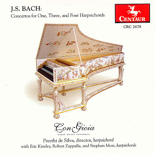 Concertos For One, Three, And Four Harpsichords by Johann Sebastian Bach