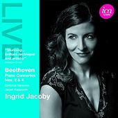 Beethoven: Piano Concertos Nos. 2 & 4 by Ingrid Jacoby