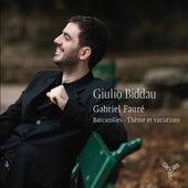 Gabriel Fauré: Barcarolles, Thèmes & variations by Giulio Biddau