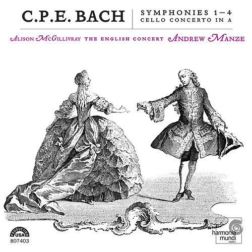 C.P.E.Bach: Symphonies 1-4, Cello Concerto in A by Various Artists