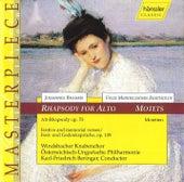 Rhapsody For Alto / Motets by Johannes Brahms