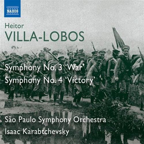 Villa-Lobos: Symphonies Nos. 3, 'War' & 4, 'Victory' by Sao Paulo Symphony Orchestra