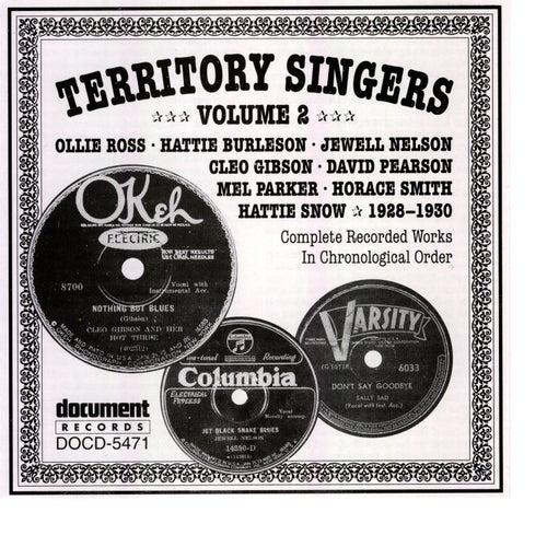 Territory Singers Vol. 2 (1928-1930) by Various Artists
