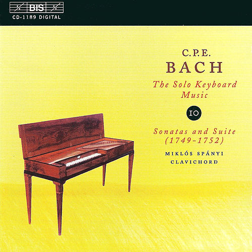 Solo Keyboard Music, Vol. 10 by Carl Philipp Emanuel Bach